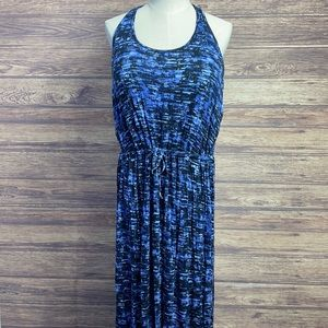 NEW Denver Hayes Curvetech Blue Black Maxi Dress